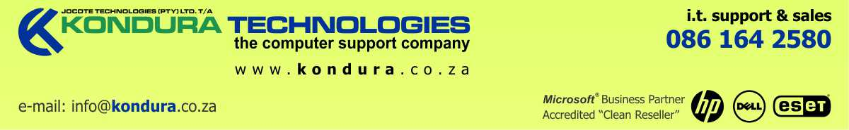 Kondura Technologies – the computer support company Port Elizabeth, South Africa