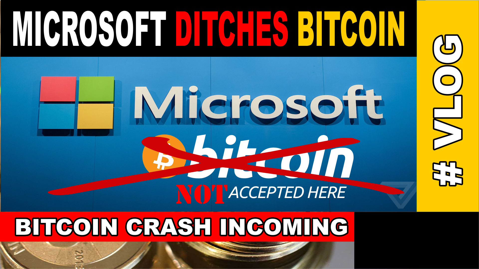 BREAKING NEWS! MICROSOFT DUMPS #BITCOIN